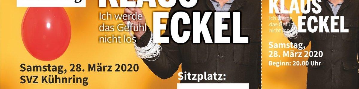Kabarett Klaus Eckel Neuer Termin: MI 20.10.2021