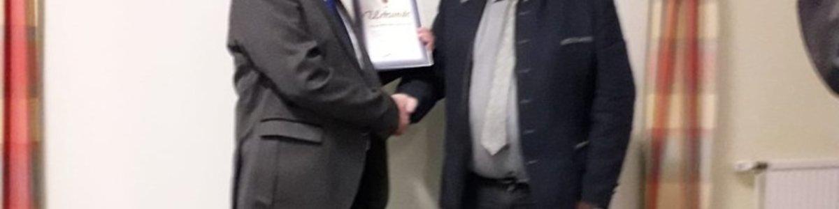 Auszeichnung von Obmann Franz Winkelhofer